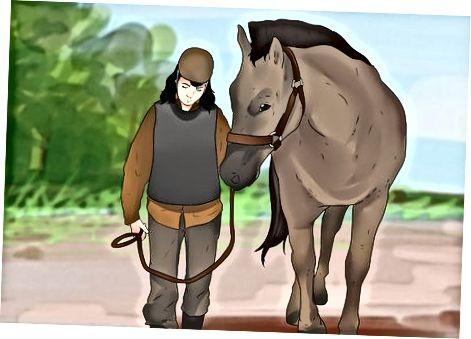 Montando un caballo