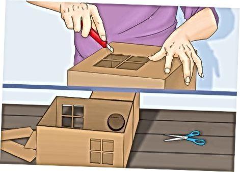 Hacer una casa de varias habitaciones con cajas de cartón