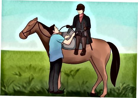 Turun dari Sidesaddle atau Bareback Riding