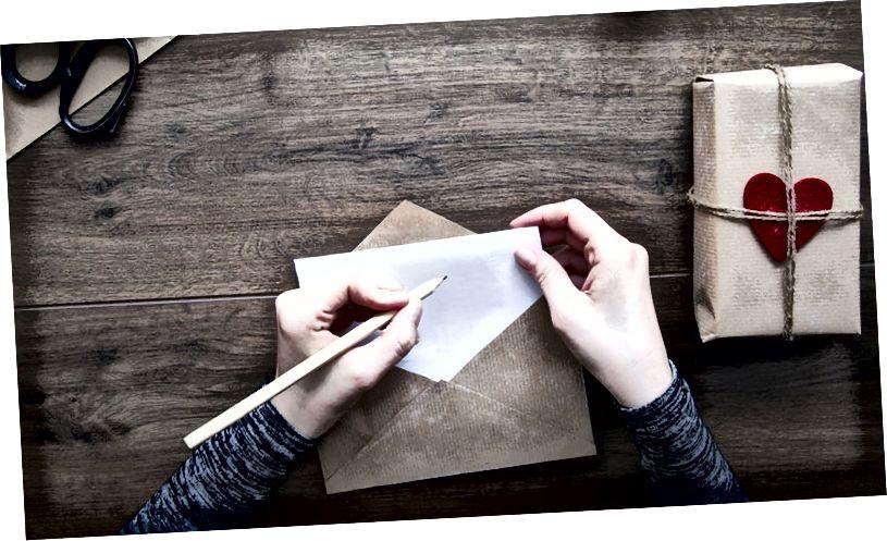 написать любовное письмо