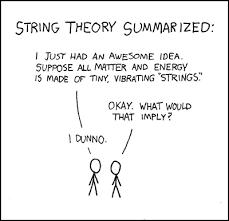Фигура 1. Чиста математика; Обобщена теория на струните - шега.