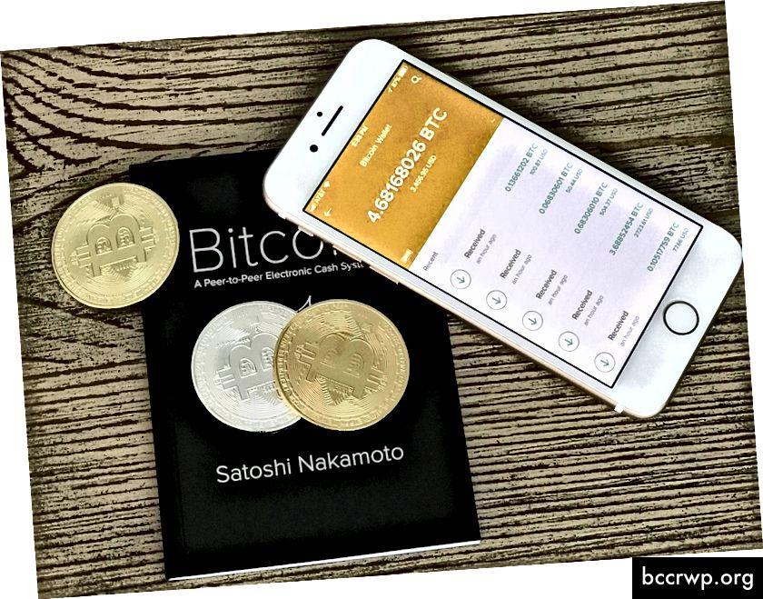 Софтуерният биткойн портфейл на iPhone винаги е с вас, но сигурността на тази операция е доста съмнителна. Кредит: BitcoinXio на forum.bitcoin.com.