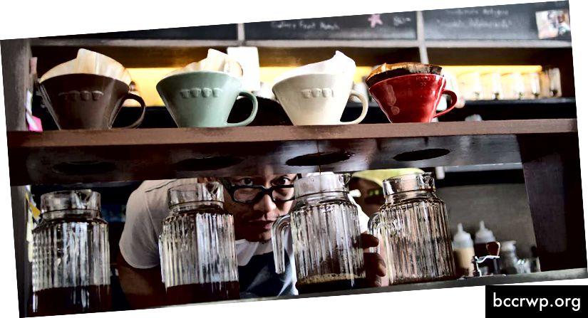 Η εξάτμιση ή ο ρίψη στον καφέ δίνει μια μοναδική γεύση που συνήθως δεν βρίσκεται στον εσπρέσο.