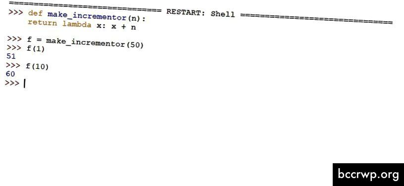 Python lambda -toimintoesimerkki
