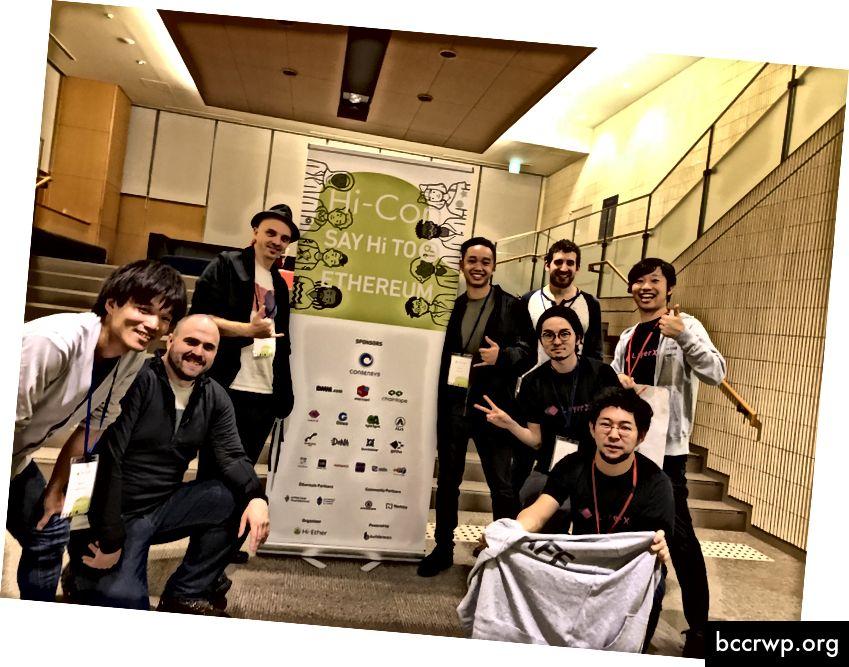 Metamask Labs meeskond koos Hi-Etheri korraldajatega