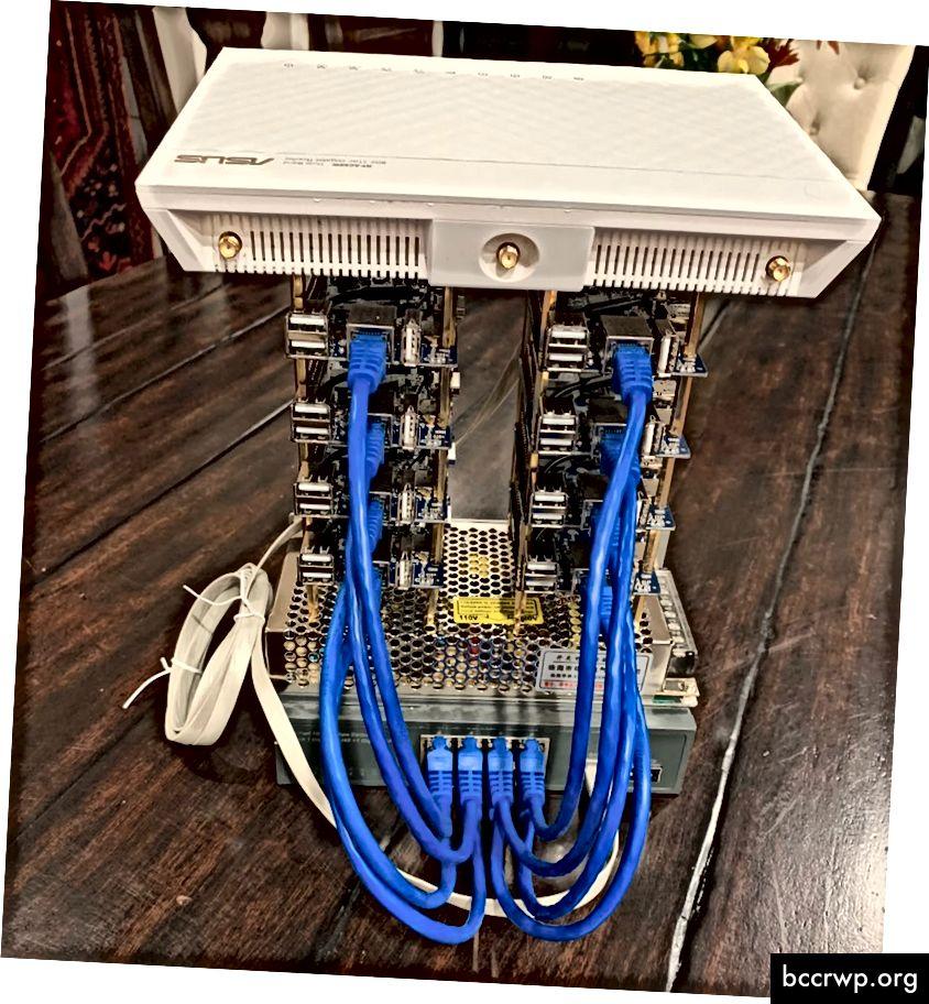 एक स्काइकोइन समुदाय के सदस्य द्वारा बनाया गया एक DIY स्काईमिनर।