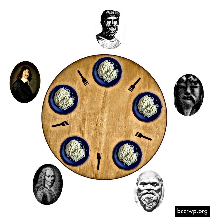 Ілюстрацыя знакамітай «Праблемы філосафаў-сталоў»