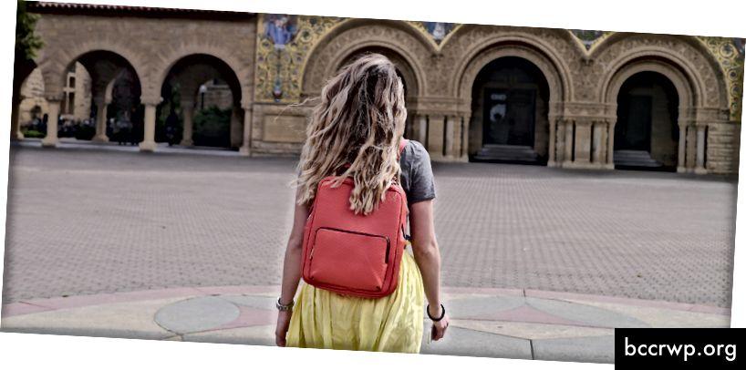 Na Stanfordské univerzitě. Úvěry Kristina