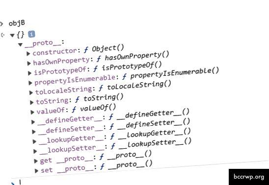 ланцужок прататыпа, як паказана на кансолі DevTool