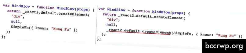 Přímé volání funkce vs. okamžité spuštění komponenty