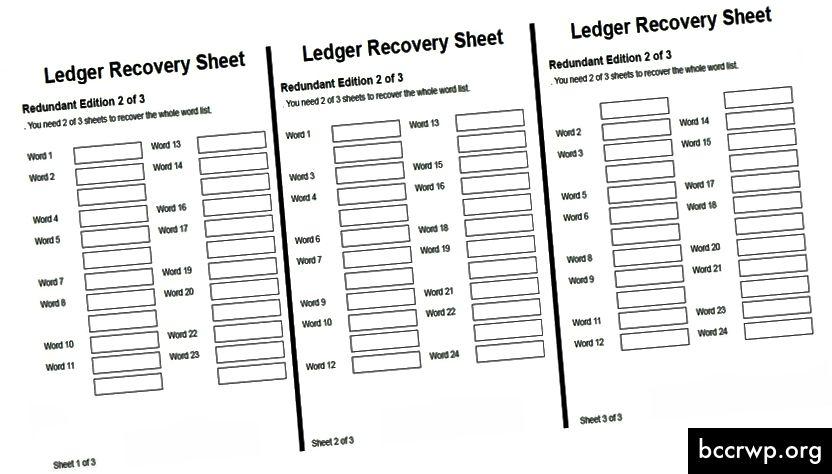 SSSS може да се разглежда като криптографска, по-гъвкава версия на резервните резервни копия на семенни фрази на Ledger