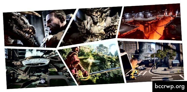 Игри, изградени с Unreal