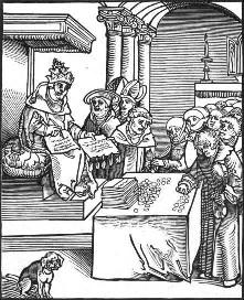 Popiežius Liūtas X yra turbūt labiausiai sugadintas popiežius istorijoje, gana įspūdingas žygdarbis. Pardavęs indulgencijas, kai turtingųjų nuodėmės buvo nuvalytos grynaisiais, buvo pagrindinė Martino Lutherio sukilimo priežastis.