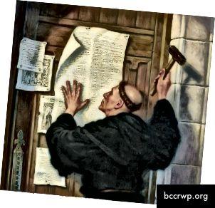Martinas Lutheris buvo jo paties prekinis ženklas riešutų byloje, tačiau jis tikrai kritikavo korupciją Vatikane 1500-aisiais degančią Europą.