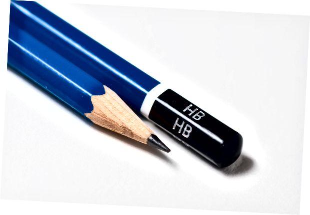 Skirtumas tarp pieštuko ir pieštuko