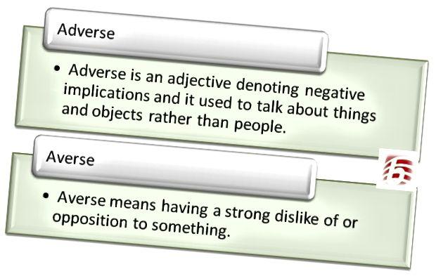 Rozdíl mezi nepříznivým a averzním