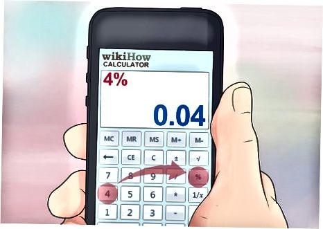 Kalkulyatorda% Kalitdan foydalanish