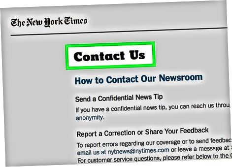 New York Times mijozlarga xizmat ko'rsatish markazi bilan bog'lanmoqda
