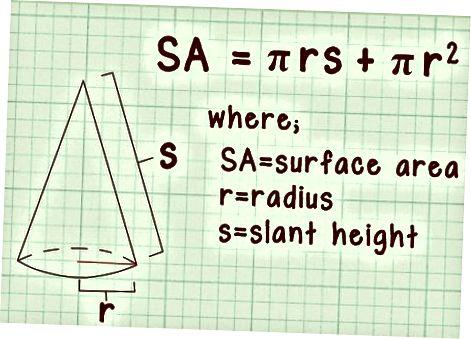 Agar siz radius va egri balandlikni bilsangiz