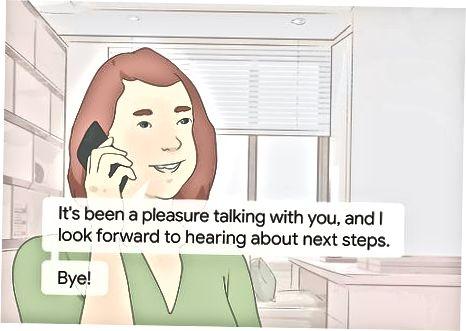 Nomzod sifatida telefon suhbatini yakunlash