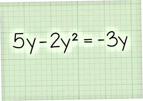 Tenglamalarni yechish uchun Binomiallarni faktoring