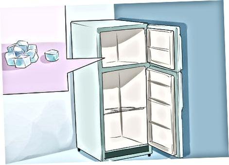 Sauso ledo naudojimas norint išlaikyti maistą šaltą