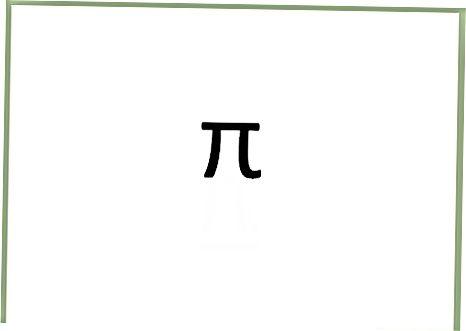 Įveskite Pi Symbol kompiuterį