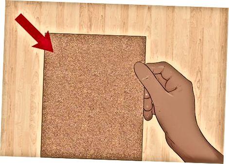 Naudojant švitrinį popierių