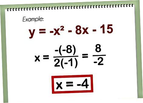 Parabolaning verteksini oddiy formuladan topish