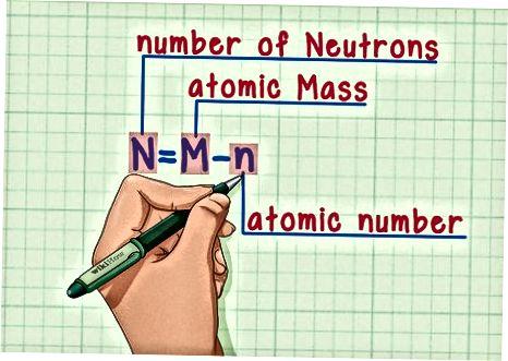 Doimiy atomdagi neytronlar sonini topish