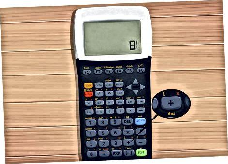 Kalkulyator yordamida eksponentlar bilan raqamlarni qo'shish