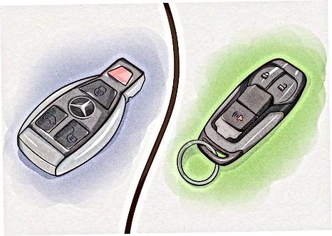 Sizda qaysi Mercedes-ning kalit modeli borligini aniqlash
