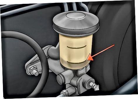 Skysčio lygio tikrinimas pagrindiniame sankabos cilindre