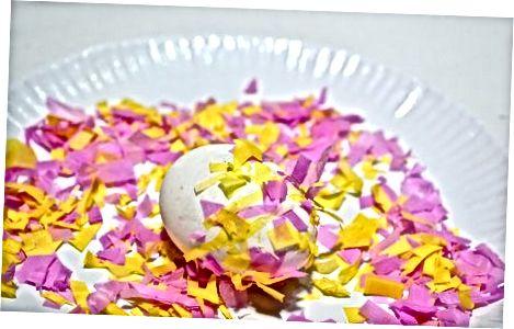 Негизги конфетти жумурткасын жасоо
