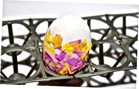 Confecció d'un ou confetti bàsic