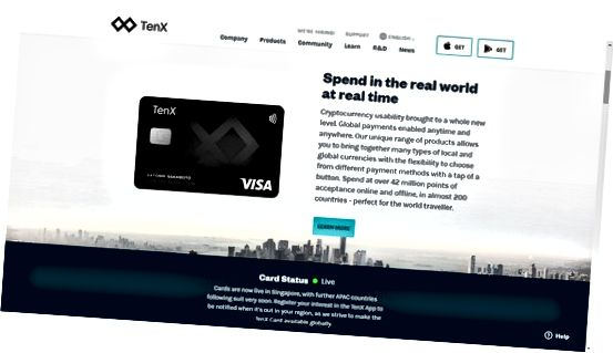 Karta debetowa TenX