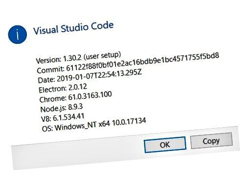 Okno dialogowe Informacje o kodzie VS