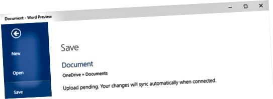 Η αποθήκευση αρχείων στο OneDrive στο Word είναι εύκολη - στην πραγματικότητα, είναι η προεπιλογή στις πρόσφατες εκδόσεις του Wo