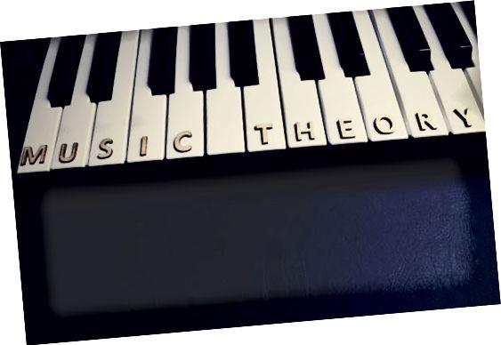 musikkteori på keyboard