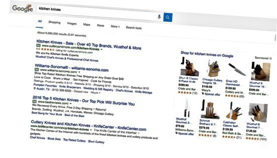 Googles søkeresultater