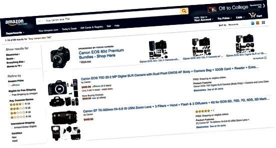 Søkeresultater fra Amazon Canon