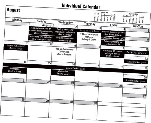 kalender for advokatkontoret