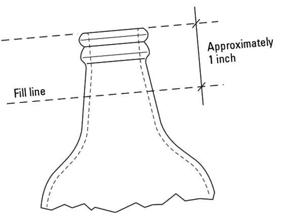 nível de garrafa homebrew