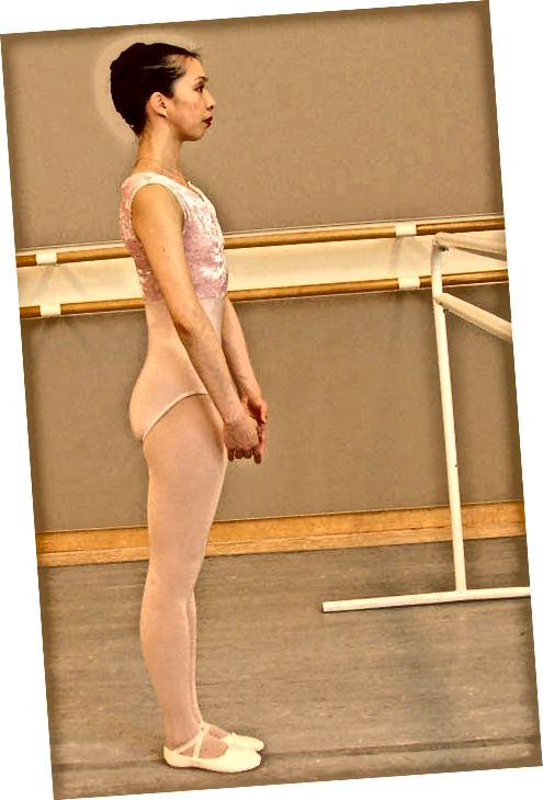 Намиране на добро разположение за балетна техника.