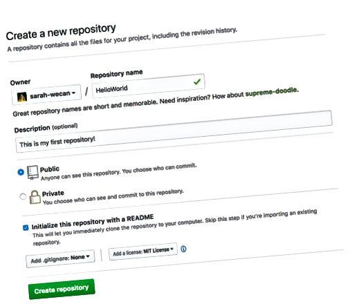 Страница за ново хранилище на GitHub