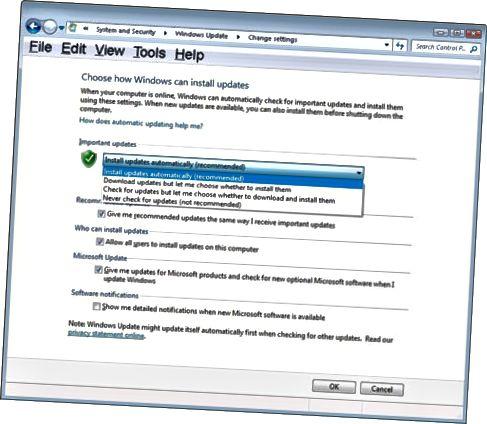 Du kan velge hvordan Windows-oppdateringer skal lastes ned og installeres.