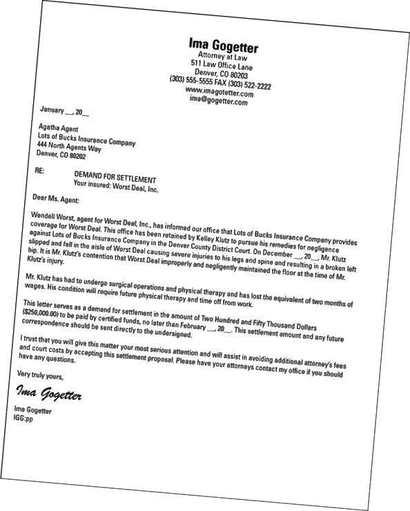 paralegal etterspørselsbrev