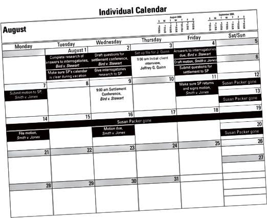 kalender for advokatkontor