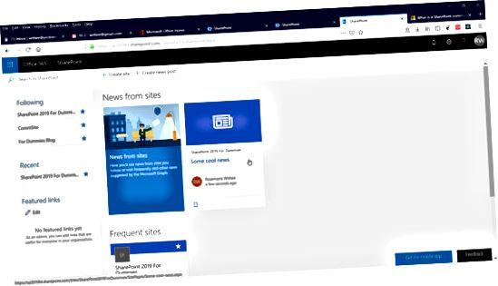 SharePoint fulgte webstedet