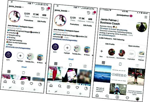 Instagram biolayouts